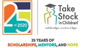 Take Stock in Children Scholarship, 25 years of scholarship., mentors and hope. #TakeStockTurns25