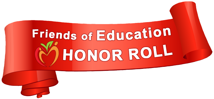 Friends of Education Honor Roll Sponsors